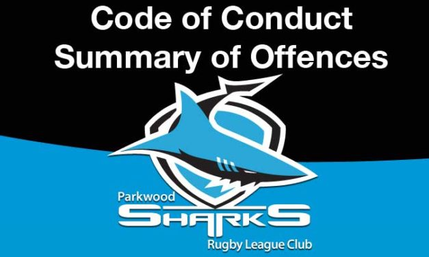 Summary of Offences – Code of Conduct