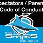 Spectators / Parents Code of Conduct